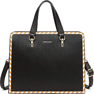 Quirk Stripe Design Shoulder Bag - Black