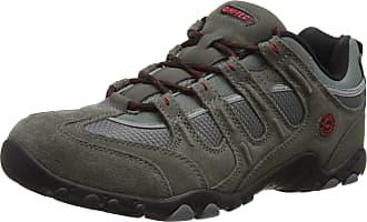 Hi-Tec Quadra Classic Men Low Rise Hiking Boots, Grey (Charcoal/Black/Red 053), 10 UK (44 EU)