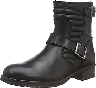 90699e65bf5d18 Buffalo London Damen ES ES 30575 Leather Biker Boots Schwarz (Preto 01) 39  EU