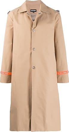 Youser Trench coat com logo - Neutro