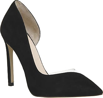 4c8034f186d1e Office Hooked Point Court Heels Black Suede - 5 UK