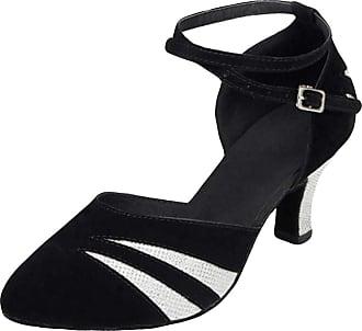 Insun Women Latin Dance Shoes Suede Ballroom Wedding Dancing Shoes Silver 8cm Heel 4.5 UK