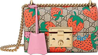 1cc7260409 Gucci Sac à épaule Padlock GG fraises petite taille