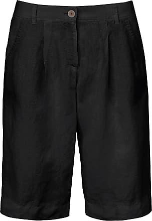 Brax Bermuda van 100% linnen Van Brax Feel Good zwart
