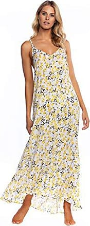 La Blanca Womens V-Neck Maxi Dress, Sunshine, M