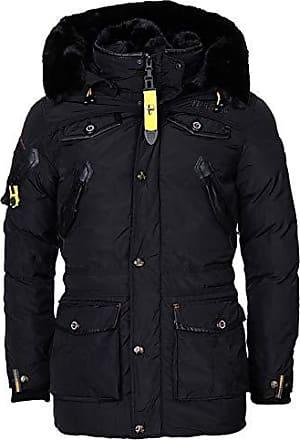 Mazine Damen Winter Jacke Kurz Mantel Parka Kapuze Herbst gefüttert warm Juneau