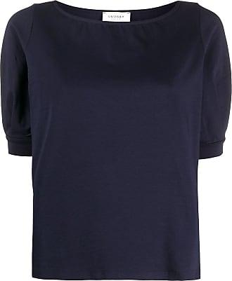 Snobby Sheep Camiseta decote canoa - Azul