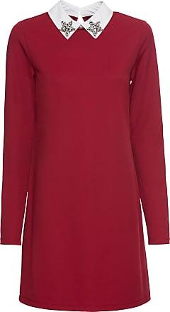 BODYFLIRT boutique Dam Klänning med krage i röd lång ärm - BODYFLIRT  boutique 87cf127b4814b