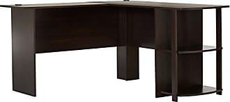 Dorel Home Products Ameriwood Home Dakota L-Shaped Desk with Bookshelves, Espresso