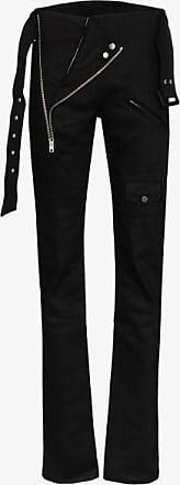 Zilver Womens Black Biker Slim Fit Trousers