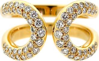 Hermès Diamond Gold H Ring