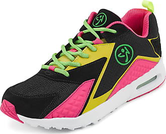 Zumba Athletic Air Classic Gym Fitness Sneakers Dance Workout Shoes for Women, Pink, 4.5