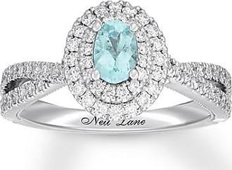 Neil Lane Paraiba Tourmaline Ring 5/8 ct tw Diamonds 14K Gold