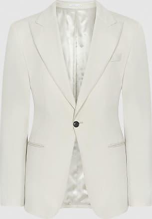 Reiss Casa - Wool Slim Fit Blazer in Ivory, Mens, Size 36