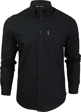 Ben Sherman Black Oxford Original Retro Button Down Long Sleeve Shirt 5XL