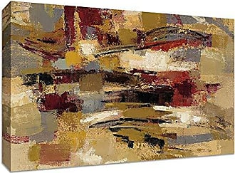 Tangletown Fine Art Ruins Gallery Wrap Canvas Taupe/Maroon/Burgundy/Green