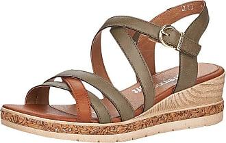Remonte Women Sandals, Ladies Strappy Sandals,Roman Sandals,Gladiator Sandals,Summer Shoes,Comfortable,Forest/Cayenne / 54,45 EU / 10.5 UK