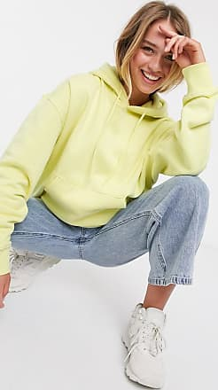 Weekday Alisa organic cotton oversized hoodie in pale yellow