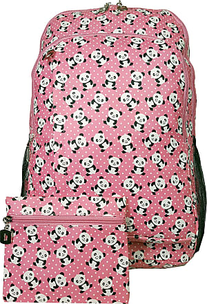 GFM Happy Backpack Colourful Panda Bag For School, Gym, Holidays, Beach, Casual Bag (S1-6215-PNDPLK-HLGLB)
