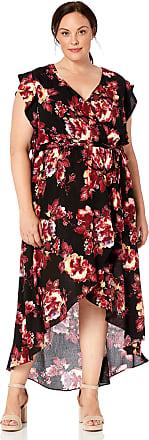 City Chic Ladies Bahama Maxi Dress size 14 16 18 Colour Black Floral Print