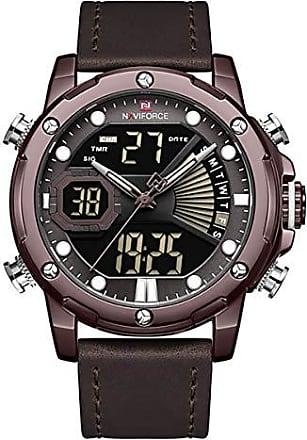 NAVIFORCE Relógio Masculino Naviforce NF9172 CECEDBN Pulseira em Couro - Marsala