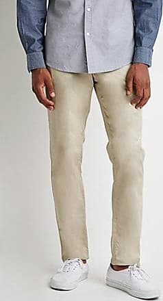 21 Men Slim Cotton Chinos at Forever 21 Khaki