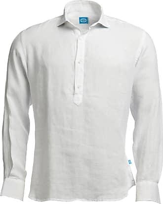 Panareha Camicia polera di lino MAMANUCA bianca