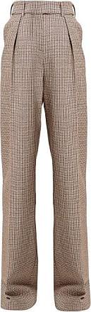 Alexandre Vauthier Gun Club Houndstooth High-rise Wool Trousers - Womens - Burgundy Multi