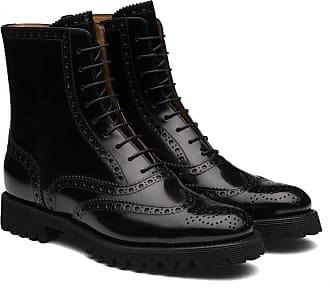 Churchs Polished Binder Lace Up Boot Brogue Woman Black Size 39,5