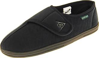 Footwear Studio Dunlop Mens Velour Felt Touch Fastening Slippers Navy Felt UK 10