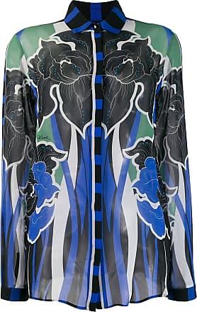 Just Cavalli Camisa com estampa floral - Azul