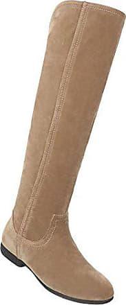5854ac9680cdbd Schuhcity24 Damen Schuhe Overknee Stiefel Moderne Hellbraun 37