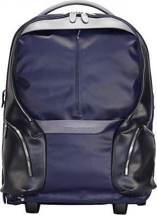 Piquadro valigia da cabina a 2 ruote 53 cm compartimenti portatile nachtblau