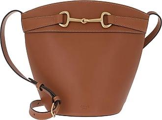 Celine Bucket Bags - Crecy Bucket Bag Leather Tan - brown - Bucket Bags for ladies