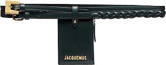 Jacquemus green La Double leather pouch belt - Verde