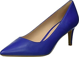 Nine West Womens SOHO9X9 Leather Pump, Blue, 9.5 M US