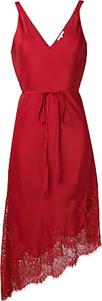 Gold Hawk Vestido de renda assimétrico - Vermelho