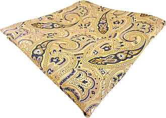 TigerTie Mens Paisley Handkerchief Yellow gelb gold beige sandgelb anthrazit One size