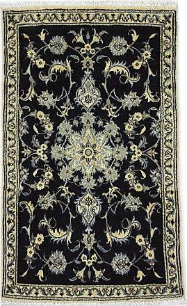 Nain Trading 143x85 Handknotted Nain Rug Dark Grey/Dark Brown (Wool/Silk, Iran/Persia)