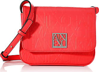 A X Armani Exchange A X Armani Exchange Womens Small Logo All Over Debossed Shoulder Strap Bag, Rosso-red, One size