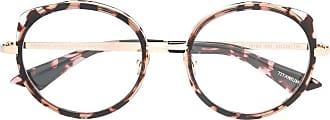 Emmanuelle Khanh round frame tortoiseshell glasses - Brown