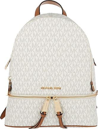 Michael Kors Rhea Zip MD Backpack Vanilla Rucksack weiß