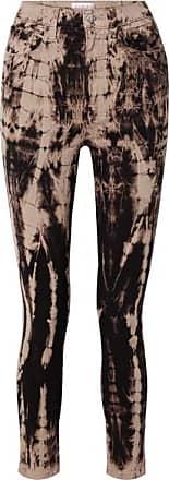 TRE by Natalie Ratabesi The Tie Dye Domino High-rise Skinny Jeans - Dark brown