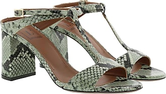 L'autre Chose Sandals - Diamont Heel Sage Green - green - Sandals for ladies