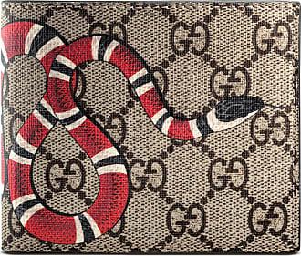 Gucci Portafoglio in tessuto GG Supreme con Kingsnake