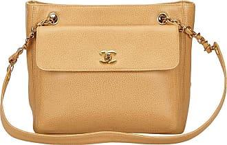 Chanel Beige Caviar Leather Shoulder Bag 113d16de46fe5