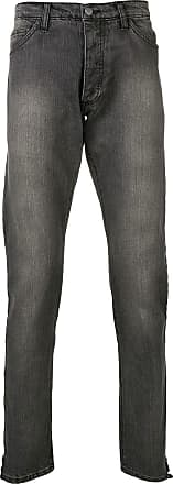 Rhude stonewashed regular jeans - Cinza