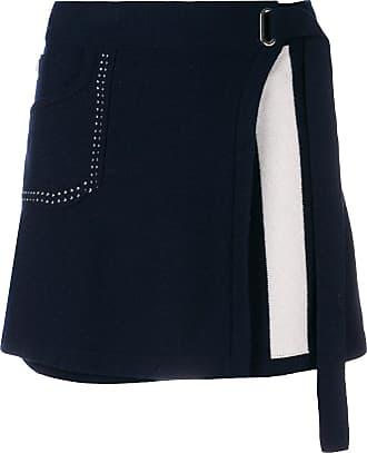 Barrie Cosmopolitan cashmere wrap skirt - Azul