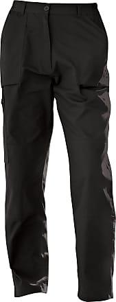Regatta Womens/Ladies New Action Water Repellent Trousers (16 Regular) (Black)