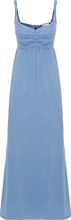 Canal Vestido Longo Washed - Azul